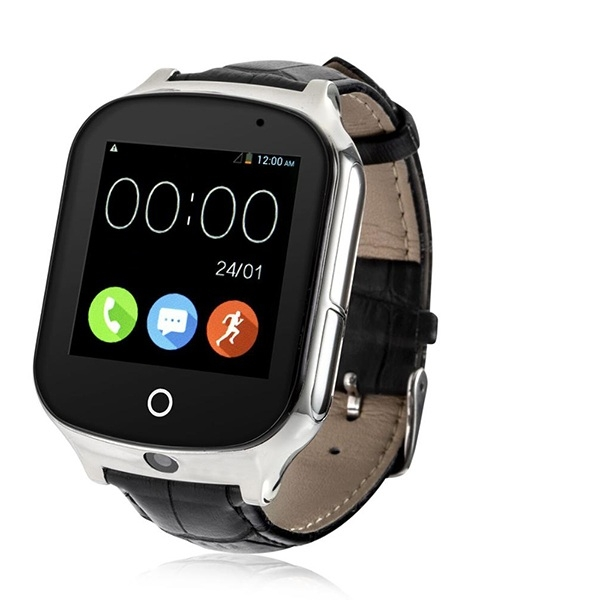 Смарт-часы с GPS Smart watch Smartix A19 черный кожа